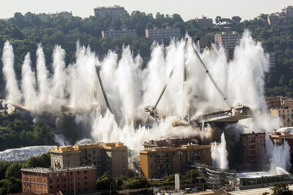 Demolition Of The Morandi Bridge